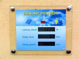 Solar Power / Photovoltaik - Leistungsanzeige